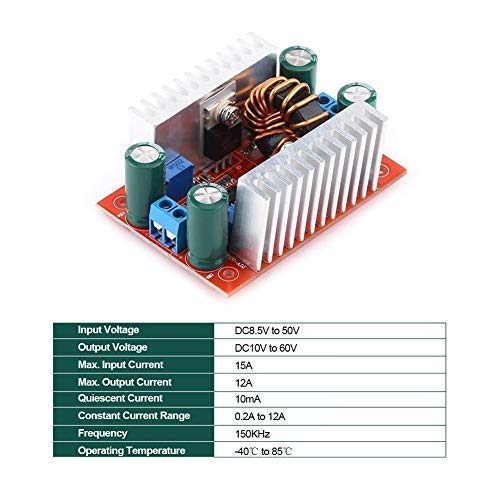 YO-TOKU Step-up Boost Converter Module,400W DC to DC Adjustable Non-isolated Step-up Power Module LED Driver for Electric Equipment, Digital Products, Laptop Modules CE