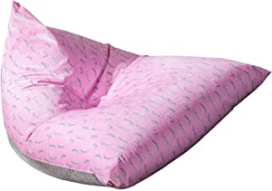 AEURX Cozy Bean Bag Sofa Adult lazy Sofa Lounger Personalized Outdoor Suitable For Toy Storage  Color Pink