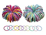Penta Angel Little Girls Hair Ties 200Pcs Colorful Tiny Elastic Hair Bands Rope No Crease Ponytail Holders Accessories for Littles Women Girls