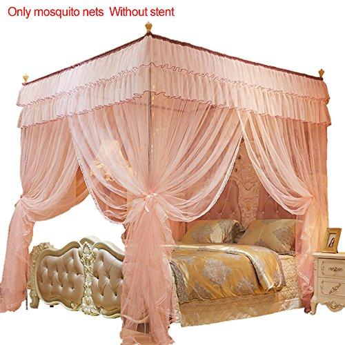 Somedays Das Beste Moskitonetz –moskitonetz doppelbett großes moskitonetz,Baldachin moskitonetz,150 * 200MM (Aprikose)