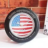 Bureze Vintage Bandiera Nazionale Pneumatico Orologio Da Parete Scrivania American Union Jack Orologio Creativo Sveglia Home Decor