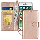 FYY Coque iPhone 8, Coque iPhone 7, [RFID Portefeuille Blocage] Fait Main Housse...