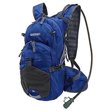 ENKNIGHT 20L Hydration Pack Waterproof Cycling Backpack 2L Water Bladder Blue