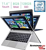 Lenovo - Yoga 710 2-in-1 80V6000PUS 11.6' Touch-Screen Laptop - Intel 7th Generation Core i5-7Y54-8GB Memory - 128GB Solid State Drive - Silver