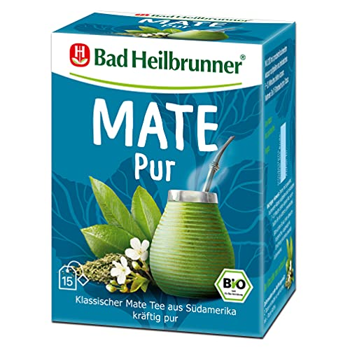 Bad Heilbrunner Mate+ PUR Tee im Filterbeutel, 5er Pack (5 x 15 Filterbeutel)