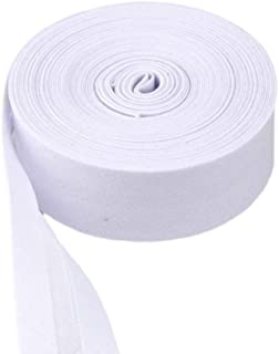 Mangocore 100% Cotton Bias bindnig tapesize: 25mm width:12.5cm30yds various colorDIY garment accessories wholesales (White)
