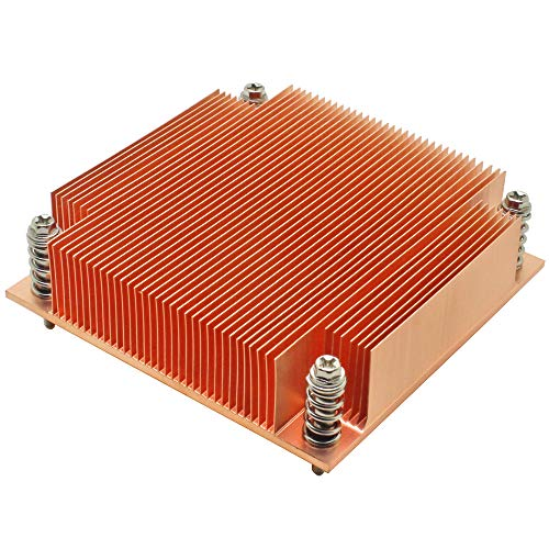 1U Server CPU Cooler Copper Skiving fin heatsink for Intel 1150 1151 1155 1156 i3 i5 i7 Industrial Computer Passive Cooling