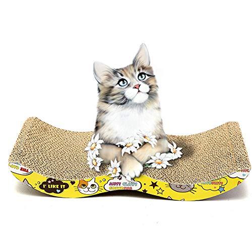 Hemore Kratzbrett für Katzen, Wellpappe mit Katzenminze, Pappe, Sofa Ultimatives Katzenspielzeug