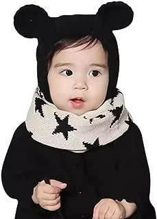 C.C-US Baby Kids Cute Bear Knit Cotton Winter Hat Warm Beanie Photo Props Cap