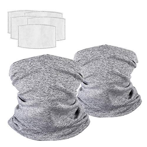 Neck Gaiter Bandanas Scarf Balaclavas with Carbon Filters for Men Women