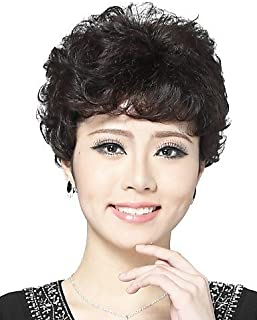 Wigs The Way Convenient and Comfortable Capless Short Wavy 100% Human Hair Wigs Chestnut Brown