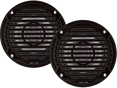 "Jensen MS5006BR Black 5.25"" Dual Cone Waterproof Speakers"