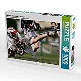 CALVENDO Puzzle Abwehr - Teamsport Lacrosse 1000 Teile Lege-Größe 64 x 48 cm Foto-Puzzle Bild von Renate Bleicher