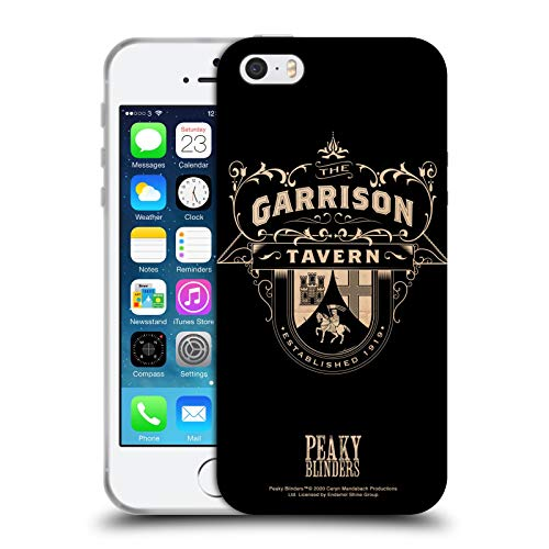 Head Case Designs Ufficiale Peaky Blinders Garrison Tavern Location Insegne Cover in Morbido Gel Compatibile con Apple iPhone 5 / iPhone 5s / iPhone SE 2016