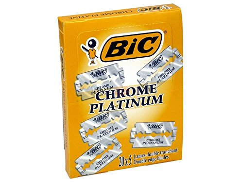 IRPot - 100 LAME DA BARBA BIC CHROME PLATINUM