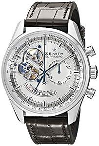 Zenith Men's 03.2080.4021/01.C494 Chronomaster Open Power Reserve Silver Dial Watch