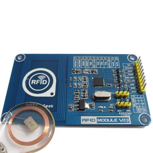 AptoFun NFC/RFID Reader PN532 for Arduino The Evaluation Boards Reader Module V 2.0 with 1 x RFID 13.56MHz/ 1K Transparent White Card