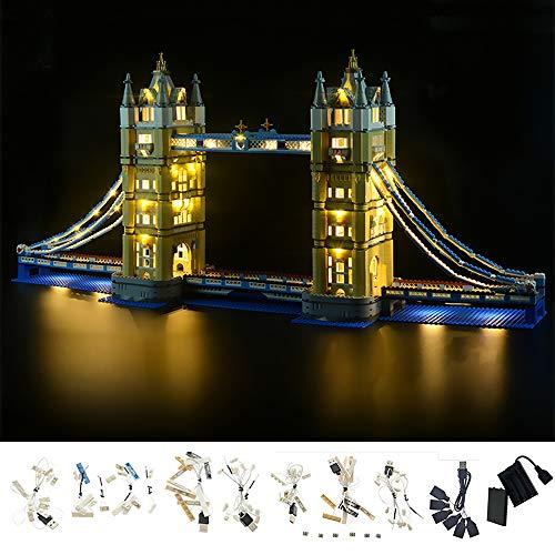 LODIY Beleuchtung Lichtset für Lego 10214 Creator Tower Bridge, LED Beleuchtungsset Kompatibel mit Lego 10214 (Nicht Enthalten Lego Modell)