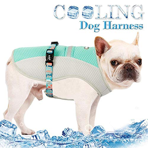 HYGJUS Water Evaporative and Adjustable Chill Seeker Cooling Vest,Soft Breathable Enduring Cooling Cooler Jacket for Dogs Cats Puppy in Hot Summer (M)