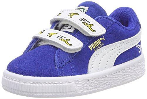 Puma Unisex-Kinder Minions Suede V Inf Sneaker, Blau (Olympian Blue White), 24 EU
