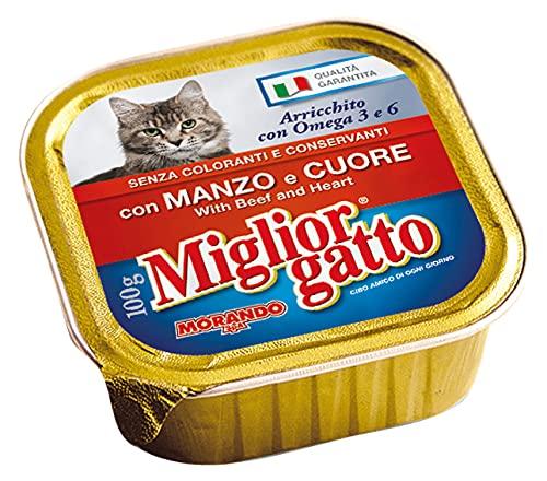 MIGLIOR GATTO Set 32 100 gr Humide Coeur de b?uf Nourriture Pour chats