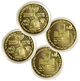 Simply Minimal 2パック ドナルド・トランプ、70年からイスラエルまで収集可能なゴールドカラーメッキ 記念コイン ユダヤ人寺院 エルサレム イスラエル
