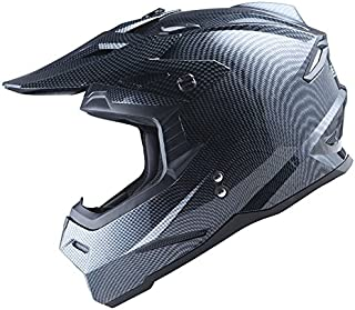 1Storm Adult Motocross Helmet BMX MX ATV Dirt Bike Helmet Racing Style HF801; Carbon Fiber Black; Size M (55-56 CM,21.7/22.0 Inch);