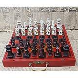Tarjeta de madera Juego de ajedrez, plegamiento de la vendimia china guerreros de terracota temáticas juego de ajedrez, vivos y únicos, resistente a los arañazos para los Hijos Adultos, como regalos