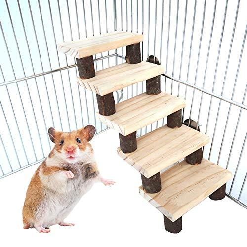 Funihut hamster speelgoed papegaai trampoline, ladder, speelgoed vogel staand trap voor huisdieren, A, Hout