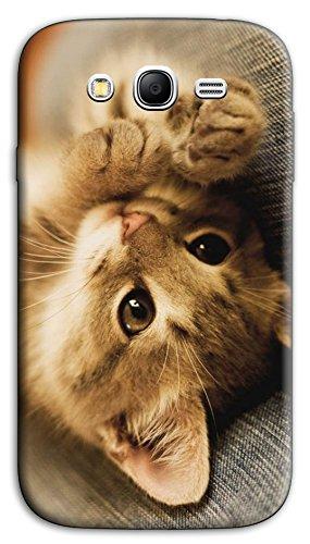 Mixroom - Cover Custodia Case in TPU Silicone Morbida per Samsung Galaxy Grand Neo I9060 (Plus) M618 Cucciolo di Gattino