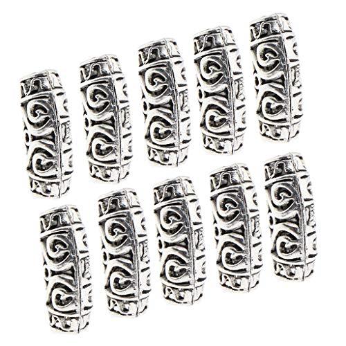 Sharplace 10pcs Perles de Cheveux Tresse de Africaine Réglables Réutilisables Boule Pince pour Coiffure Diy - #2