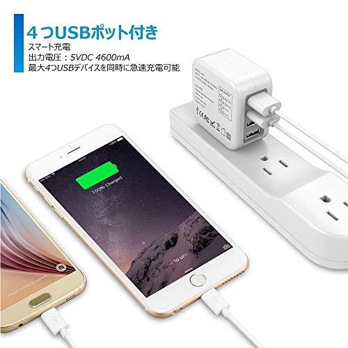 Monmall『海外旅行用USB充電器』