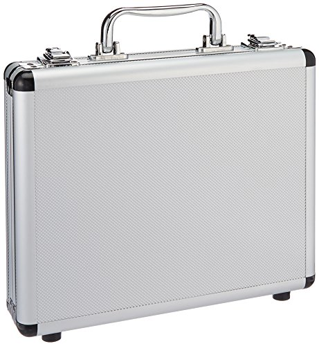 SRA Cases EN-AC-FG-A036 Silver Aluminum Hard Case, 11 x 8.8 x 2.5 Inches