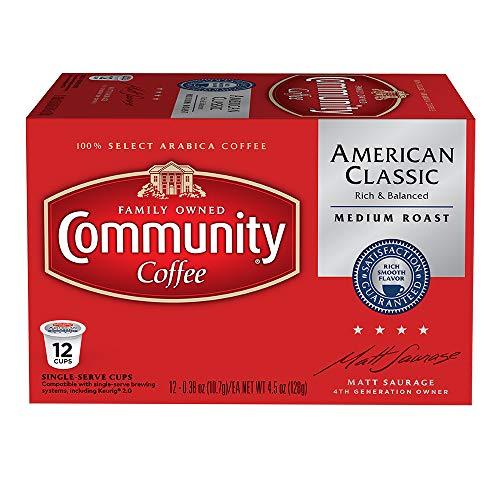 Community Coffee  American Classic Medium Roast Single Serve 100% Arabica Coffee Beans, 3 Count