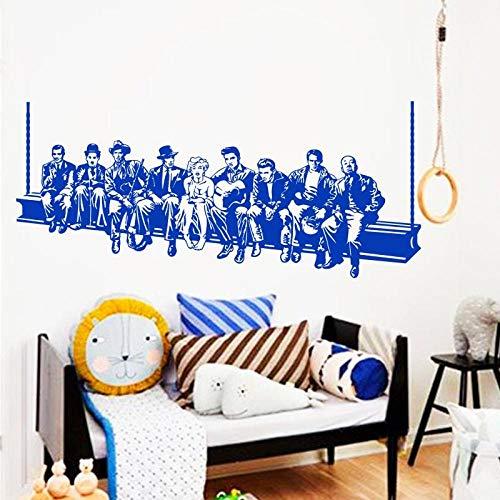 fdgdfgd Hollywood Filmstar Wandtattoo American Style Home Decoration Wandbild Hausdekoration für Wohnzimmer oder Schlafzimmer 161cm x 70cm