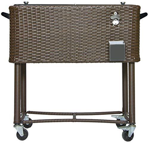 wicker patio cooler - 1
