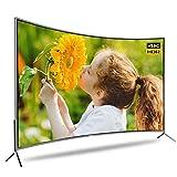 Televisión por cable curvada de aleación de aluminio a prueba de explosiones TV LCD de red inteligente, HDR 4K LED Android TV ultradelgado, Proyección inalámbrica, Frecuencia de actualización: 60 Hz