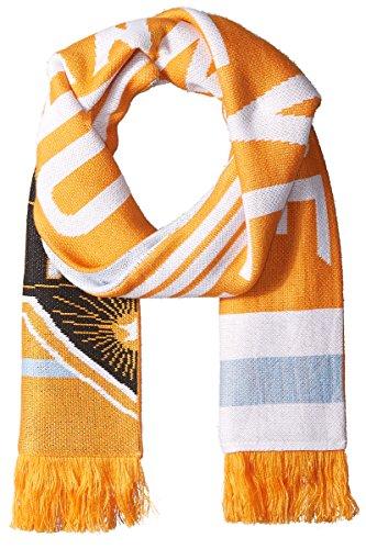 adidas MLS Houston Dynamo 1st Kick Jersey Hook Jacquard Scarf, One Size, Orange