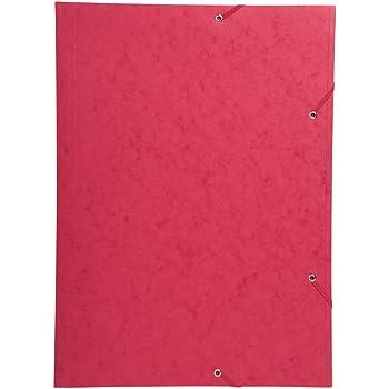 59503E Cartella ad elastico 3 lembi carta lucida 600 g//mq Nature Future Ref A3 Rosso Exacompta