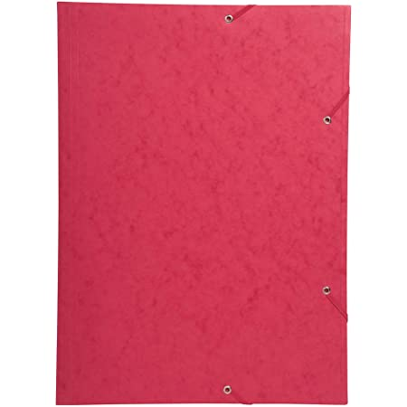 Exacompta 59503E - Carpeta con goma, A3-32X44CM, color rojo