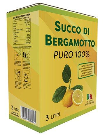 Succo puro di Bergamotto calabrese confezione da 3 Lt.