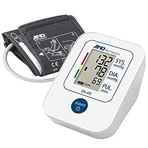 A&D Medical UA-611 Tensiómetro de brazo digital, lecturas de presión arterial rápidas, cómodas y precisas, validado clínicamente