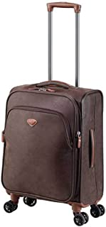 Jump Uppsala Expandable Carry-On Spinner Suitcase (Chocolate)