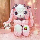 Peluche 45 cm Conejo Rosado Conejo de Felpa Adorable Adorable...