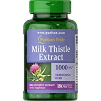 180-Count Puritans Pride Milk Thistle 4:1 Extract 1000 Mg Softgels