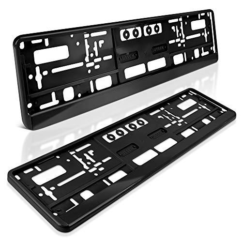 schildEVO 2 Kennzeichenhalter | 520 x 110 mm | SCHWARZ | Auto PKW Kfz | Nummernschildhalter | Kennzeichenverstärker | DHL-Versand