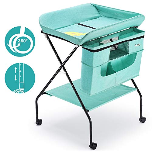 51h0qZyDU L - FORSTART Baby Changing Table with Wheels