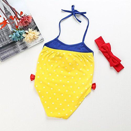 ARAUS Costume da Bagno da Bimba Nuotare con Fascia di Cappelli Principessa