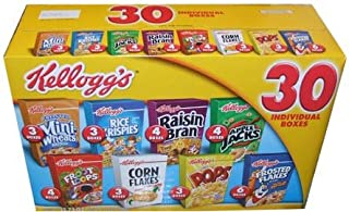 Kellogg`s Cereal 30 Individual Box Variety Pack 32.73 Total Ounces - Value Box