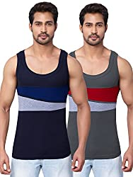 Dixcy scott uno Mens Plain Vest (Pack of 2)